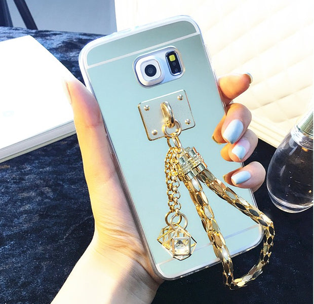 Mirror Pendant Coque Case For Samsung Galaxys6 Edge Plus S7edge Note5 Note4 Note3 A5 A7 A8 A310 A510 A710 S3 S4 S5 Thin Cover