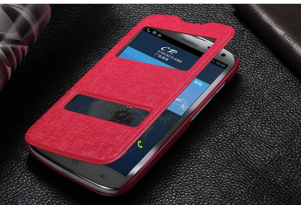 Mobile Phone Case For HUAWEI G610 Mobile Phone Case Leather Case Intelligent Window