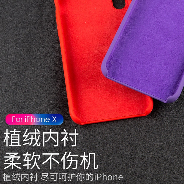 S8 S9 S9p S8p Note8 NEW CASE FOR IPhonex 5s 6s 7/8 Plus Case,Liquid Silicone Gel Rubber Case Soft