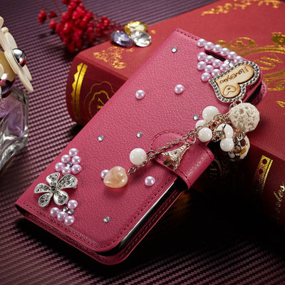SFor Huawei Honor 6C Pro Case Muxma Luxury Rhinestone Cover For Honor V9 Play Pink Faux Leather Coque Crystal Diamond Phone Case