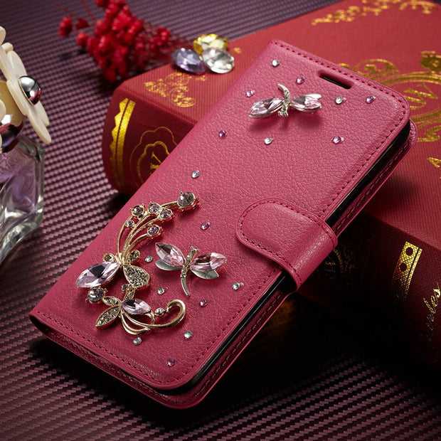 SFor Huawei Mate 10 Case Muxma Glitter Rhinestone Cover For Huawei Mate10 Pink Faux Leather Coque Luxury Crystal Diamond Cases
