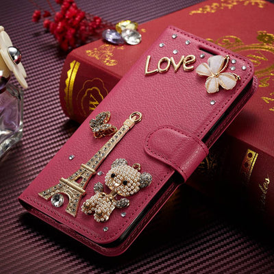 SFor Huawei Nova 2i Case Muxma Glitter Rhinestone Cover For Huawei Mate 10 Lite Pink Faux Leather Coque Crystal Diamond Cases