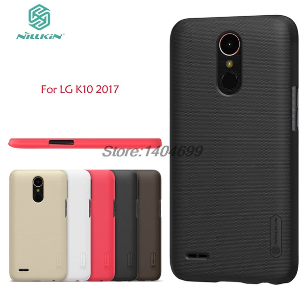 SFor LG K10 2017 Case Nillkin Frosted Shield Hard Armor PC Back Cover Case For LG K10 2017