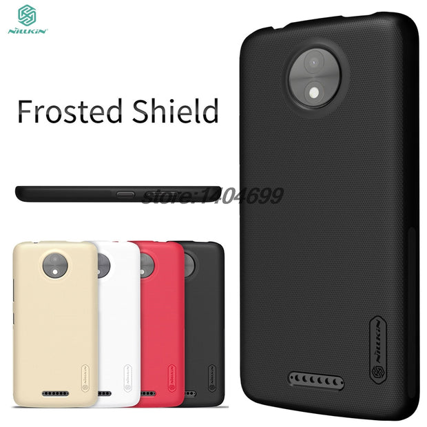 "SFor Motorola MOTO C Case Cover Nillkin Frosted Shield Hard Back Case For MOTO C 5.0"" Phone"