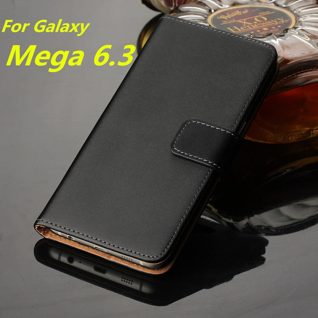 Wallet Leather Case For Samsung Galaxy Mega 6.3 I9200 Case Luxury Flip Cover Mega 6.3 I9208 Card Holder Holster GG