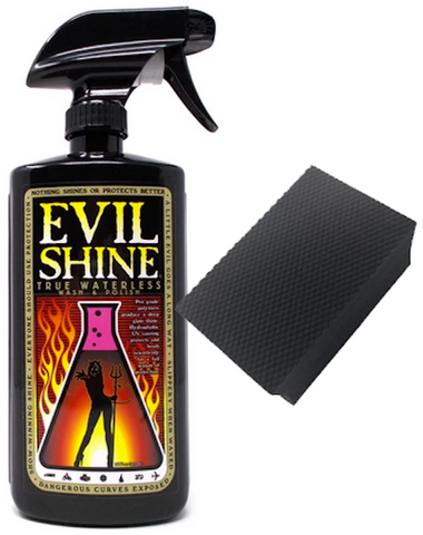 Evil Shine True Waterless Wash Polish and Clay Bar Bundle