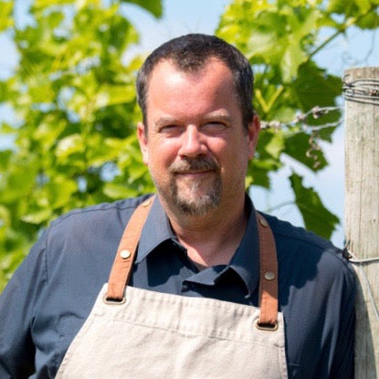Chef Jason Lynch from Grand Pré Winery in Grand Pre Nova Scotia