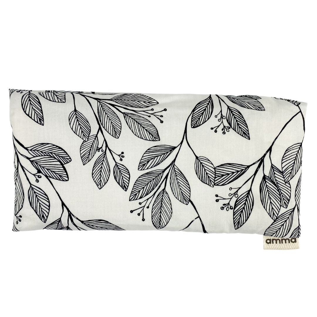 Lavender Infused Eye Rest - Black & White Flora