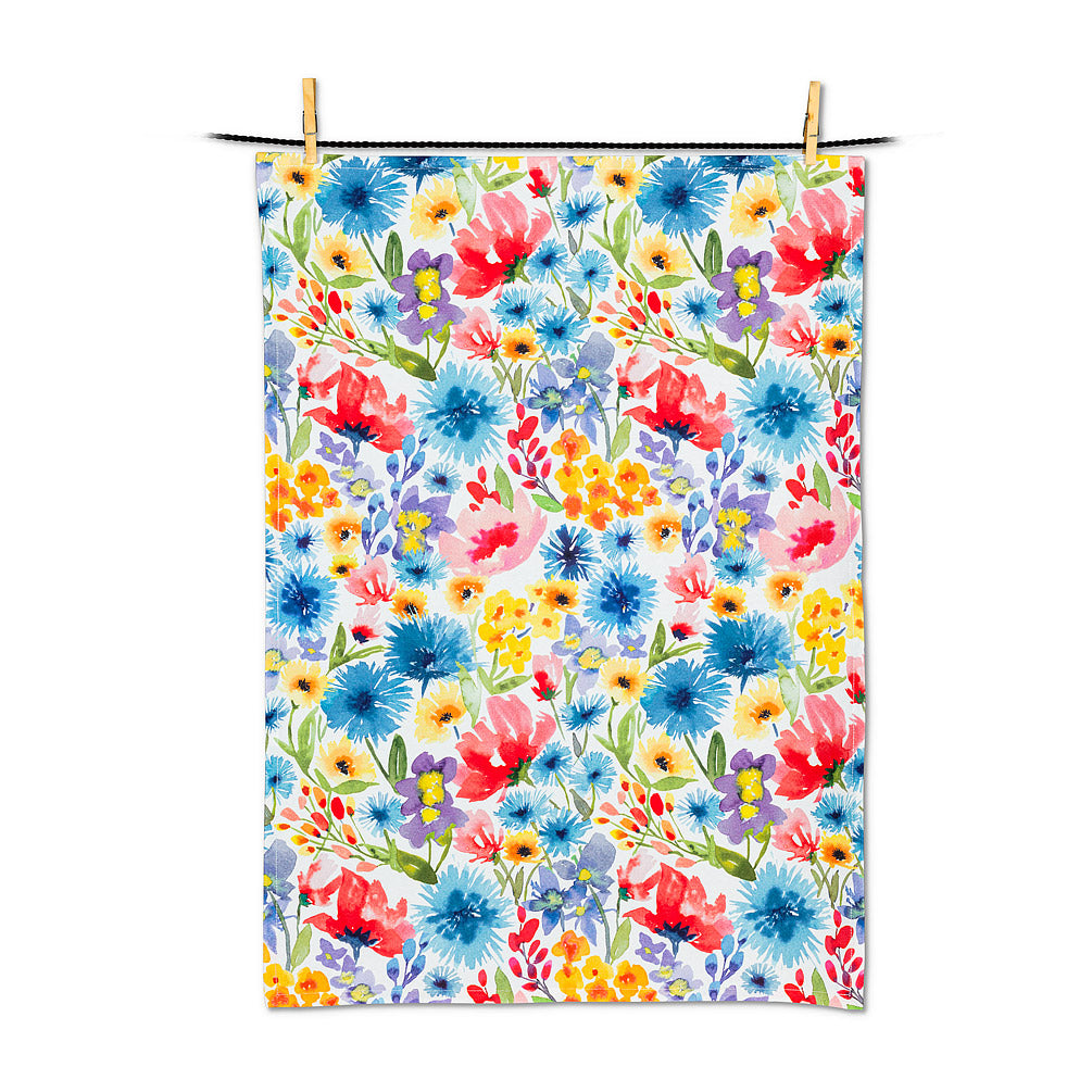 Flower Bloom Tea Towel