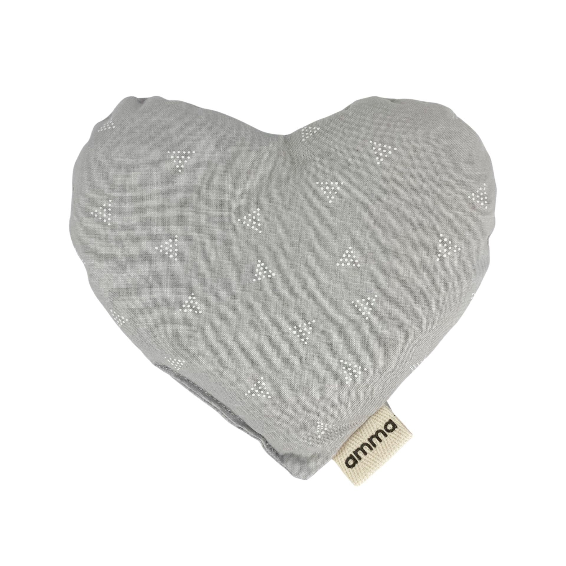 Heart Shaped with Grey Triangles Compress Used Hot or Cold