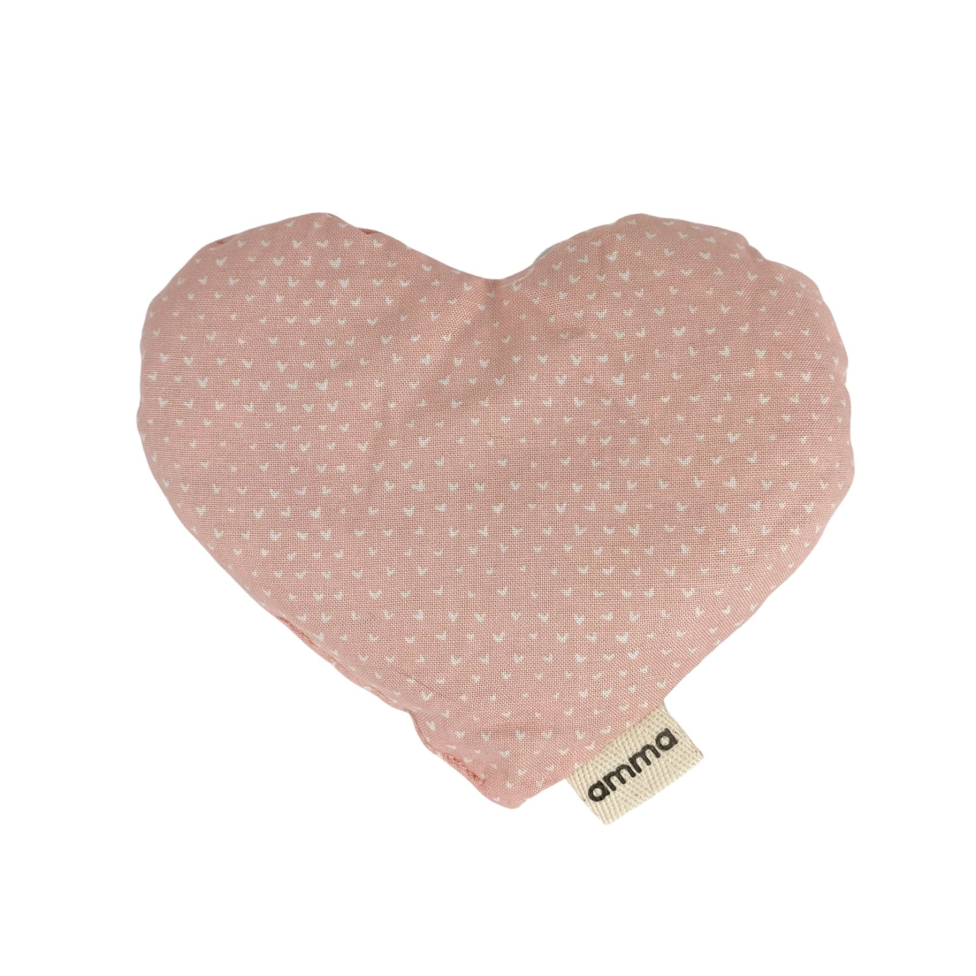 Heart Shaped Pink with Hearts Compress Used Hot or Cold