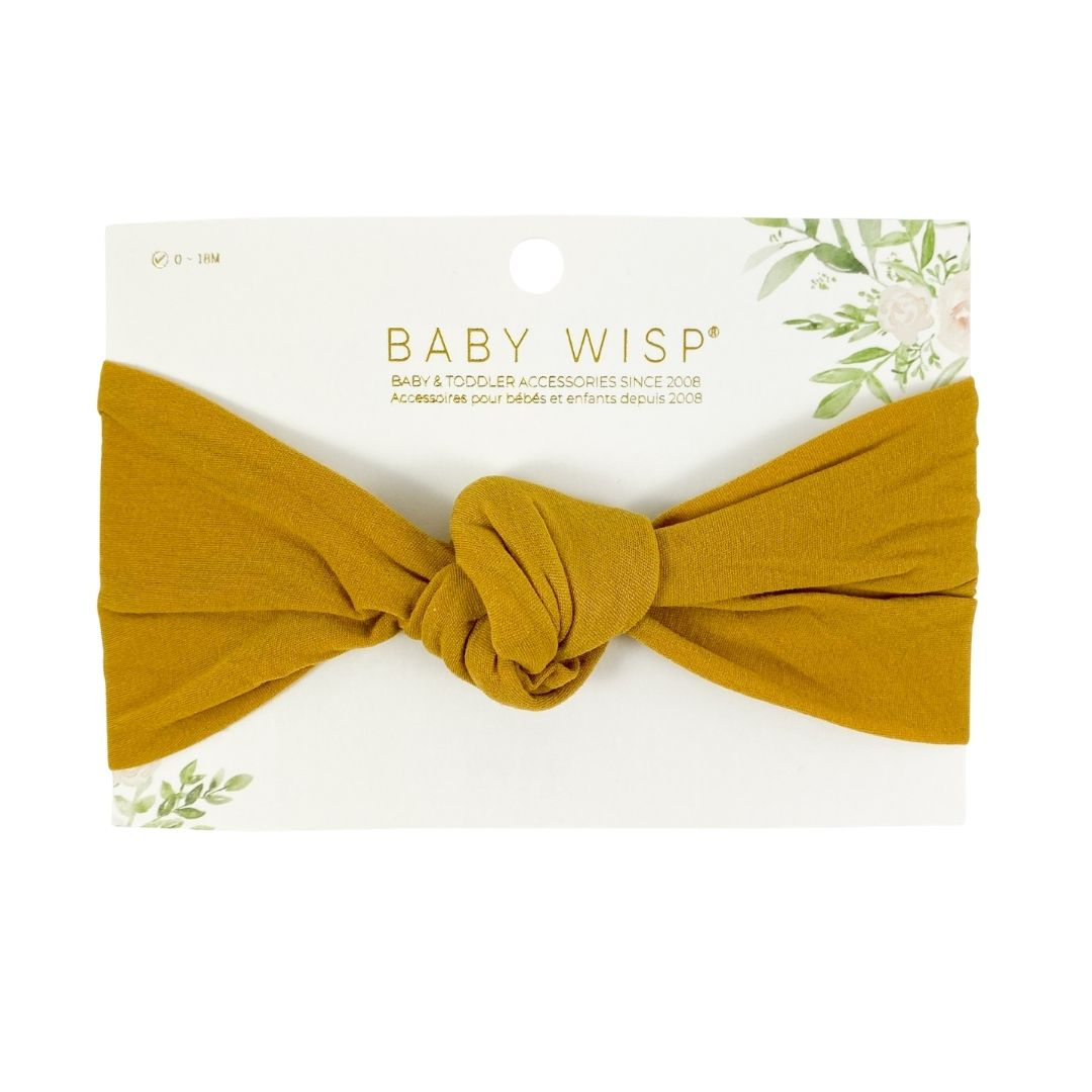 Nylon Baby Headband in Mustard Colour
