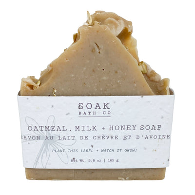 Oatmeal, Milk & Honey Soap with Wildflower Seed Paper