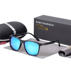 Polarized Sunglasses for Men Al-Mg Ultralight TR90 Frame