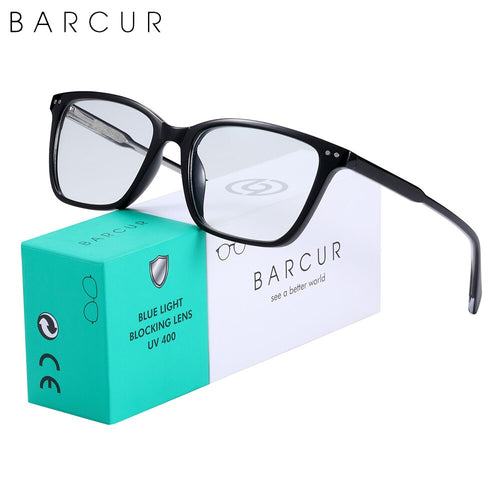 BARCUR Brand Design TR90 Anti Blue Ray Glasses Computer Glass Optical Eye Gaming