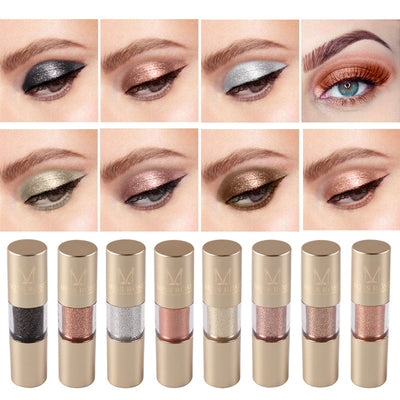 MISS ROSE 8 Colours Makeup Glitter Shining Eyeshadow
