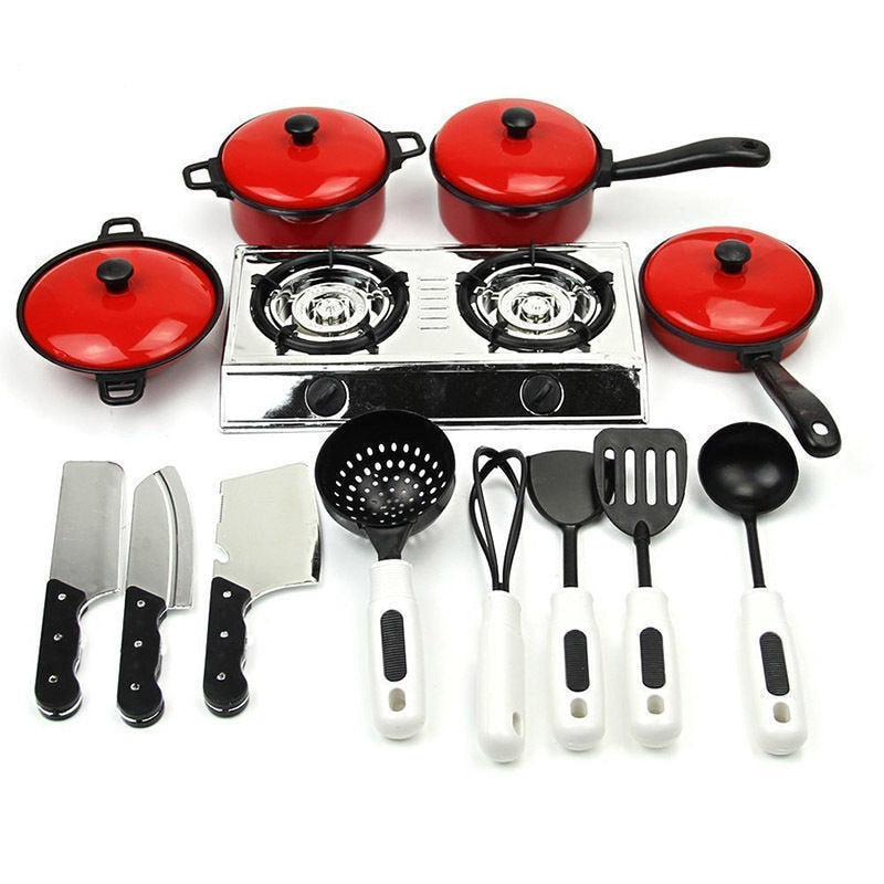 13PCS Kids Play Kitchen Utensils