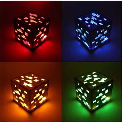 Minecraft Style Night Lamp