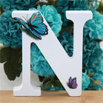 1pc 10X10cm Hand Made Butterfly Wooden Letters