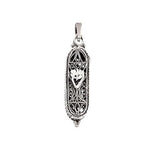 "Mezuzah ""SHIN"" Silver Necklace"