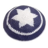 Crocheted Star of David Kippah