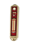 10 Commandments Brass Car Mezuzah*