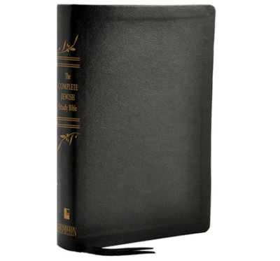The Complete Jewish Study Bible, Genuine Calfskin leather black