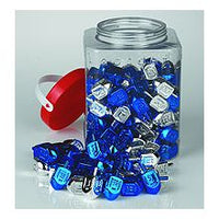 Blue/Silver Medium Plastic Dreidel