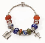 Charm Bracelet - Menorah & 10 Commandments