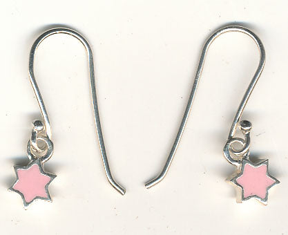 Star of David Pink Earrings
