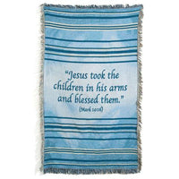 Small Blue Children's Scripture Blanket