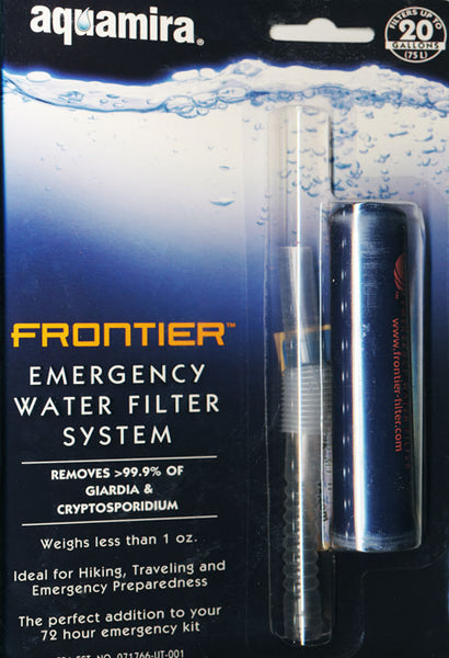 Frontier Emergency Water Filter System
