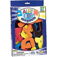 Alef-Bet Foam Magnets