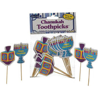 Hanukkah Wooden Toothpicks 24 Pieces