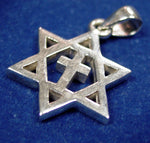 Sterling Silver Messianic Star of David Pendant