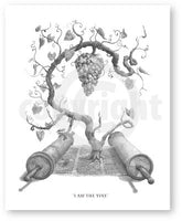 """I Am The Vine""  Art Print  by Shaun Fergus"