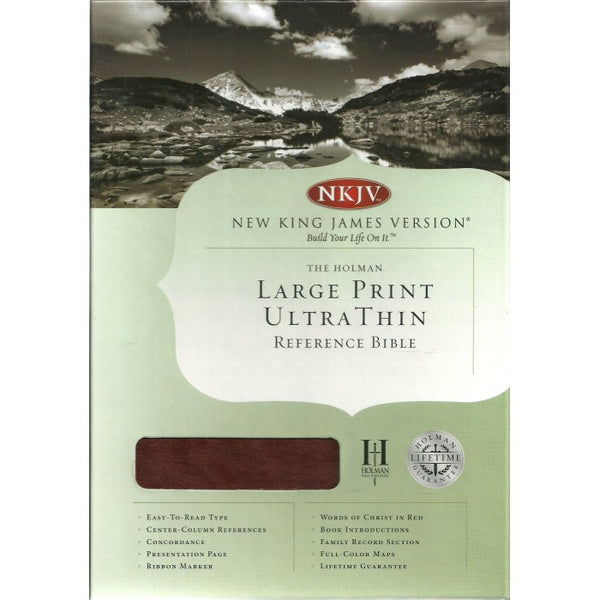 NKJV Ultra Thin , Large Print, Reference Bible   by Holman