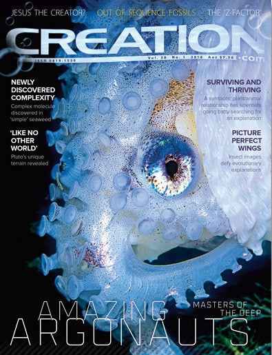 Creation Magazine:  Amazing Argonauts  (Issue 38:1)