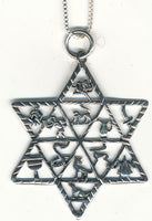 12 Tribes Star of David Necklace