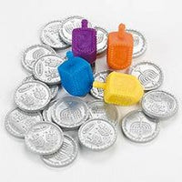 Hanukkah Dreidel Game - Dreidels with Coins