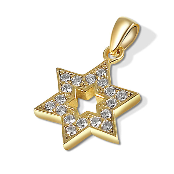 24K Gold Plated Star with CZ's