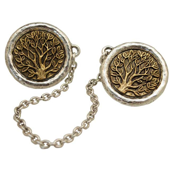 Gold & Silver Tree of Life Tallit Clips