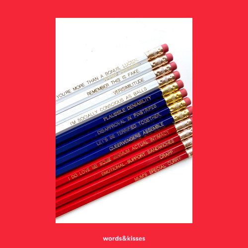Boyfriend Material Pencil Set
