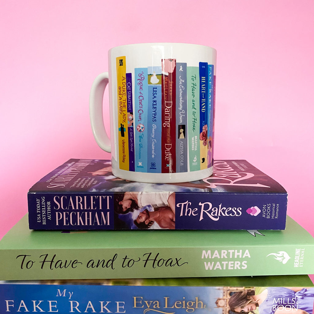 The Words & Kisses Bookshelf Mug - Historical Romance