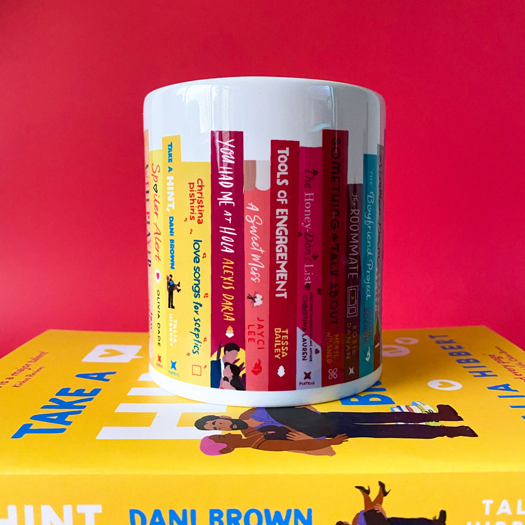 The Words & Kisses Bookshelf Mug - 2020 Contemporary Reads