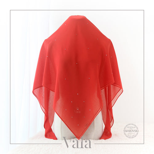 BAWAL MINI 60 DOTS (001 CRYSTAL) CHILI RED - Tracync.com