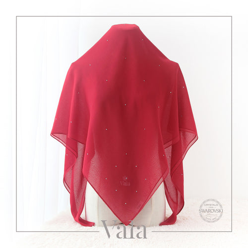 BAWAL MINI 60 DOTS (001 CRYSTAL) DRAMA RED - Tracync.com