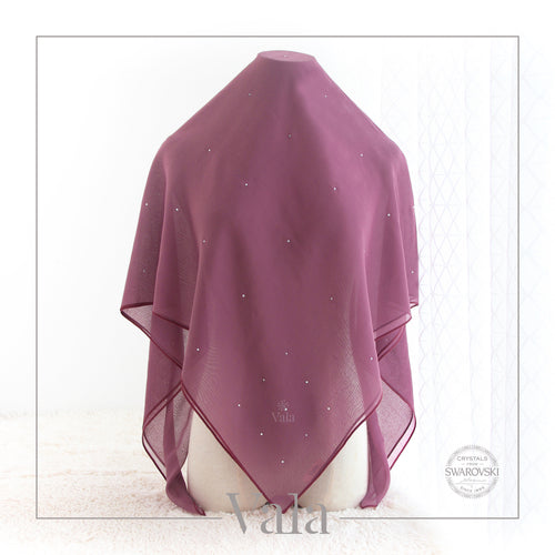 BAWAL MINI 60 DOTS (001 CRYSTAL) BERRY JAM