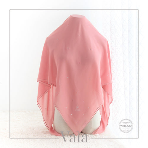 BAWAL MINI 60 DOTS (001 CRYSTAL) CORAL DUST