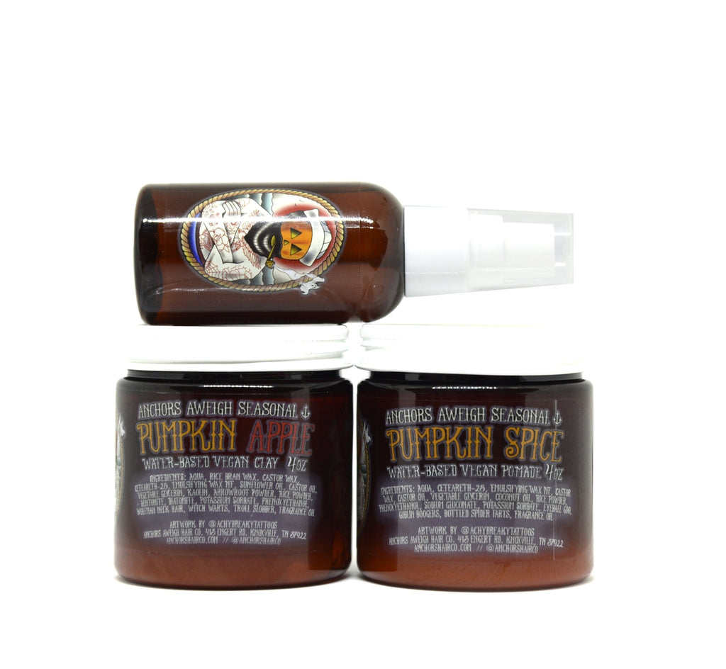 Fall Products Hair & Beard Bundle - Pomade, Clay, & Oil - Anchors Aweigh Hair, Skin, and Shave Co.